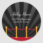 Hollywood Red Carpet Custom Address Label Stickers