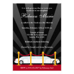Hollywood Red Carpet Limo Bat Mitzvah Invitation Announcements