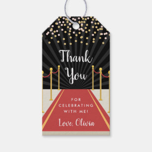Red Carpet VIP Personalized Party Thank You Cards