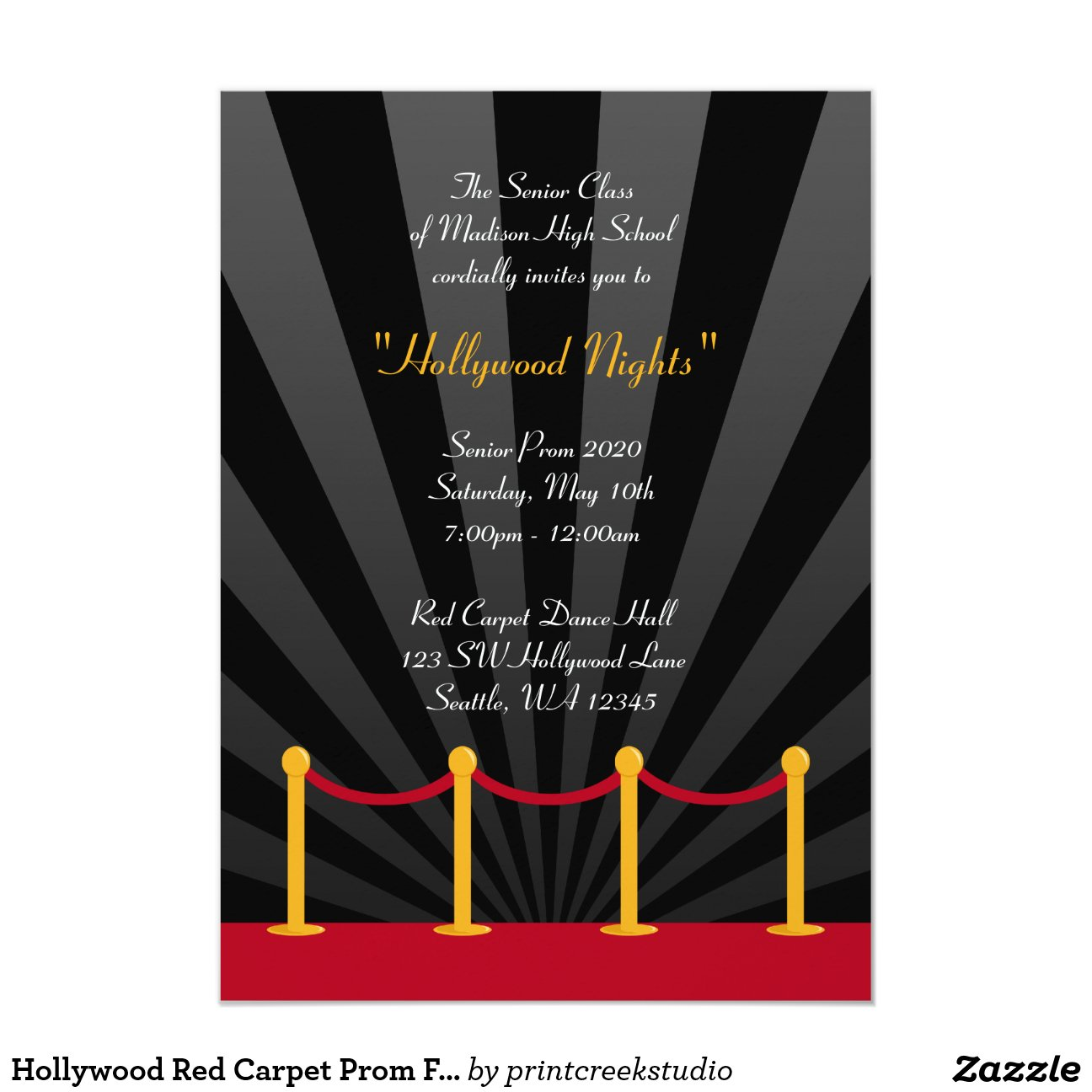 Hollywood Party Invitations with good invitation template