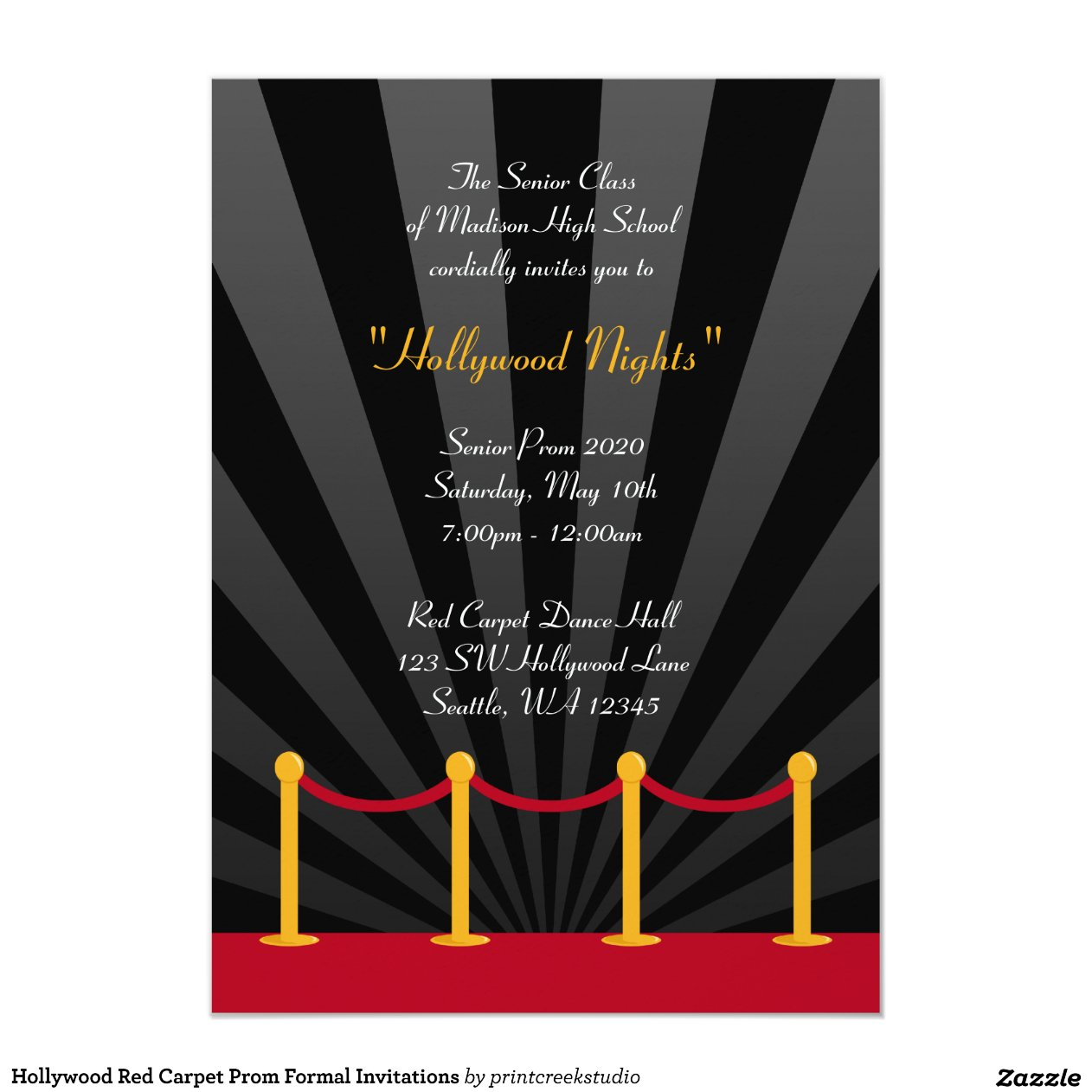 Hollywood Themed Invitations with nice invitations layout