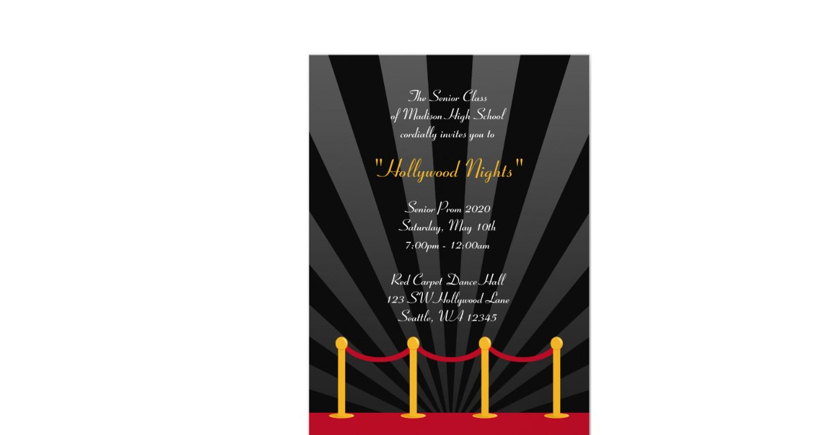 Hollywood Red Carpet Prom Theme Images