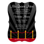Hollywood Red Carpet Quinceanera Party 5x7 Paper Invitation Card