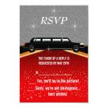Hollywood Red Carpet RSVP Template Custom Invitations