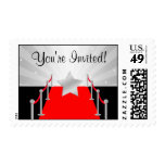 Hollywood Red Carpet Star Silver Postage Stamps