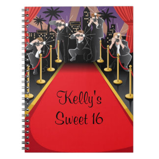 Hollywood Red Carpet Sweet 16 Custom Guest Book