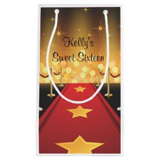 Hollywood Red Carpet Sweet 16 Favor Bag Small Gift Bag