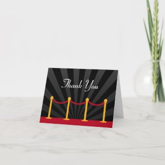 Hollywood Red Carpet Thank You card