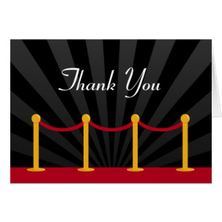 Hollywood Red Carpet Thank You Greeting Cards