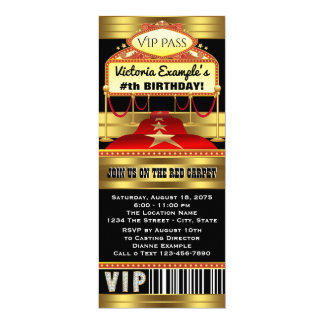 hollywood invitations & announcements | zazzle, Party invitations