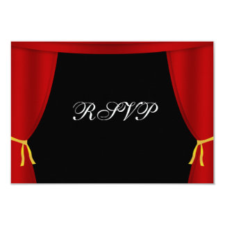 Hollywood Red Curtain RSVP Card