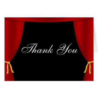 Hollywood Red Curtain Thank You Card