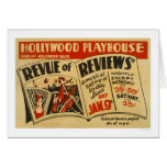 Hollywood Revue Musical 1937 WPA Card