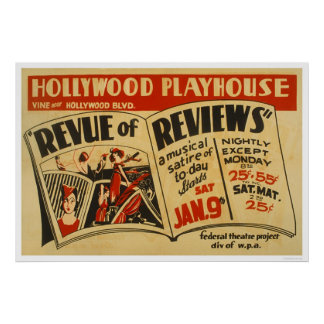 Hollywood Revue Musical 1937 WPA Poster