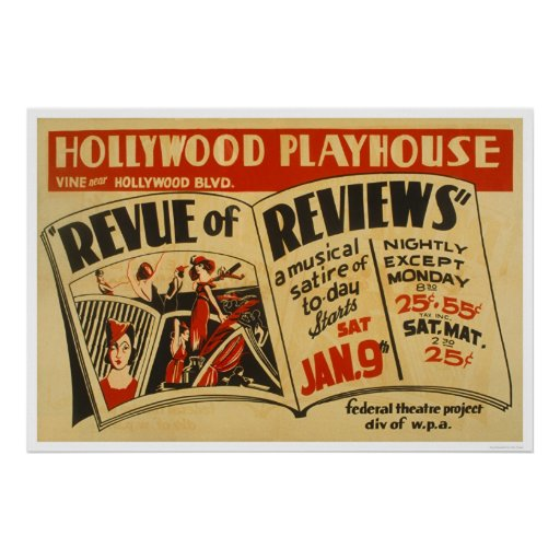 Hollywood Revue Musical 1937 WPA Print