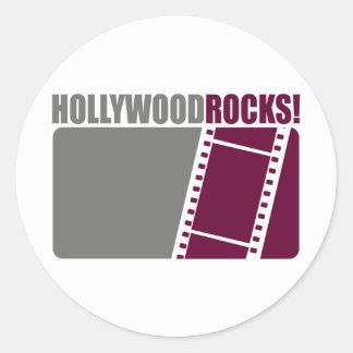 Hollywood Rocks! Classic Round Sticker