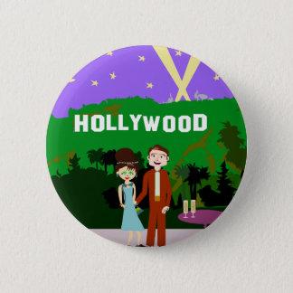 Hollywood Romance Pinback Button
