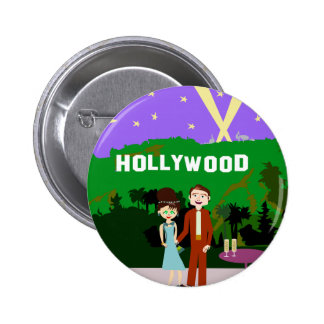 Hollywood Romance Pinback Buttons