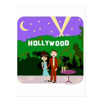 Hollywood Romance Postcard