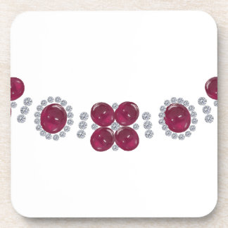 Hollywood Ruby Glamour Necklace Drink Coaster