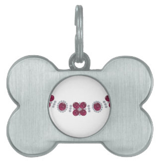 Hollywood Ruby Glamour Necklace Pet ID Tag