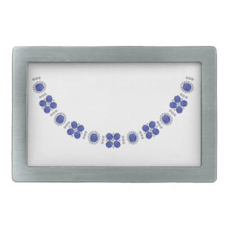 Hollywood Sapphire Glamour Necklace Belt Buckle