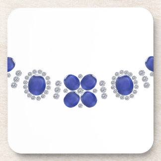 Hollywood Sapphire Glamour Necklace Beverage Coaster