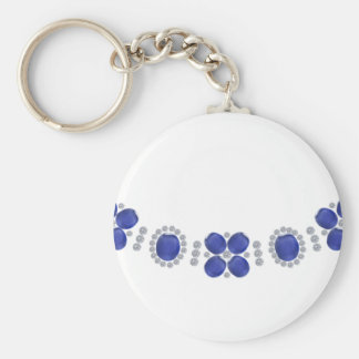 Hollywood Sapphire Glamour Necklace Keychain
