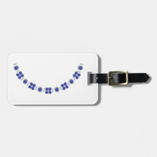 Hollywood Sapphire Glamour Necklace Bag Tag