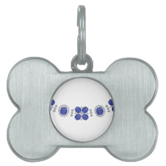 Hollywood Sapphire Glamour Necklace Pet Name Tags
