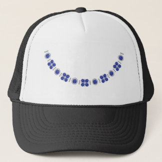 Hollywood Sapphire Glamour Necklace Trucker Hat