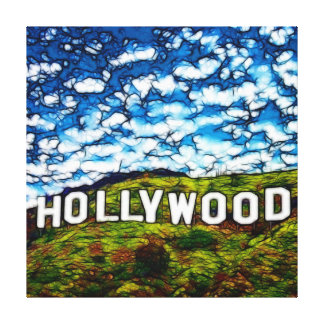 Hollywood sign gallery wrapped canvas
