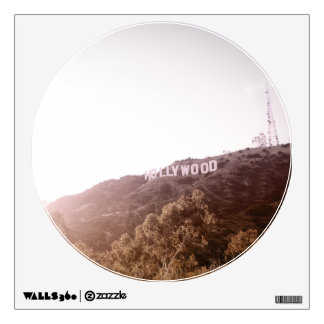Hollywood Sign Circle Window Wall Decal