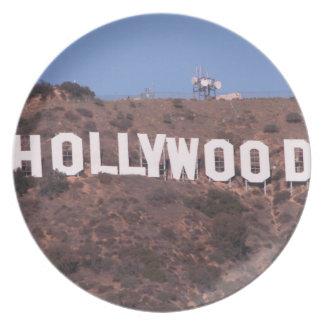 Hollywood Sign Dinner Plate
