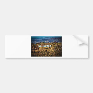 Hollywood Sign Iconic Mountains Los Angeles Bumper Sticker