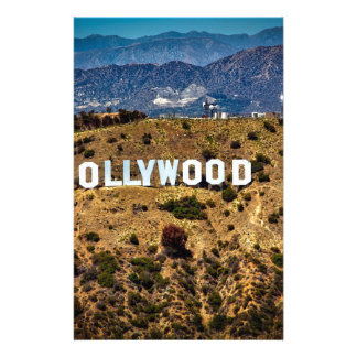 Hollywood Sign Iconic Mountains Los Angeles Stationery