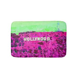 Hollywood Sign Los Angeles California Bathroom Mat