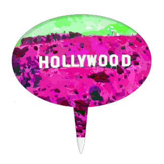 Hollywood Sign Los Angeles California Cake Topper