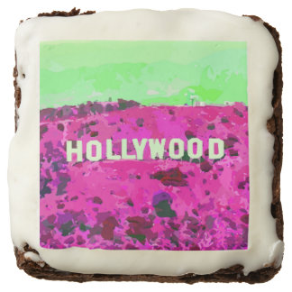 Hollywood Sign Los Angeles California Chocolate Brownie