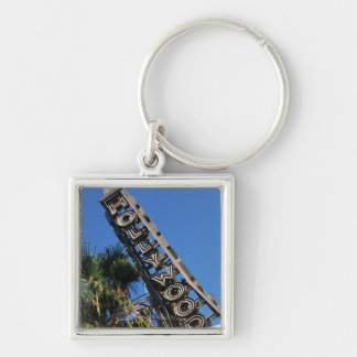 Hollywood sign, Los Angeles, California Keychain