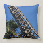 Hollywood sign, Los Angeles, California Throw Pillow