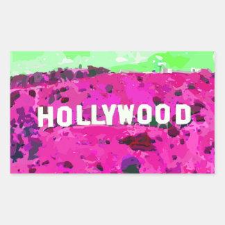 Hollywood Sign Los Angeles California Rectangular Sticker