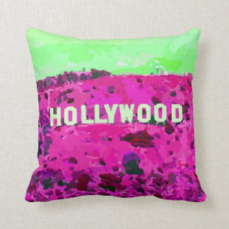 Hollywood Sign Los Angeles California Throw Pillow