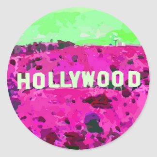 Hollywood Sign Los Angeles Classic Round Sticker