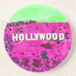 Hollywood Sign Los Angeles Drink Coaster