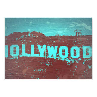 "Hollywood sign Los Angeles 5"" X 7"" Invitation Card"