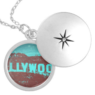 Hollywood sign Los Angeles Round Locket Necklace