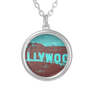 Hollywood sign Los Angeles Round Pendant Necklace