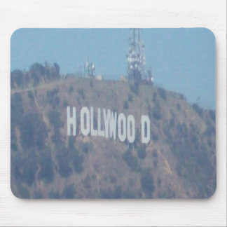 Hollywood sign mouse pad