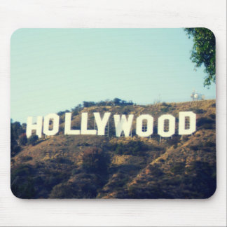 Hollywood sign mousepad